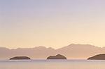 Offshore islands in Bahia de los Angeles at dawn, Baja California, Mexico