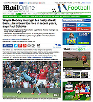 Mail Online 03-Oct-2014 - 'Wayne Rooney's reckless challenge on Stewart Downing resulted in him being sent off against West Ham' - Photo by Rob Newell (Digital South)