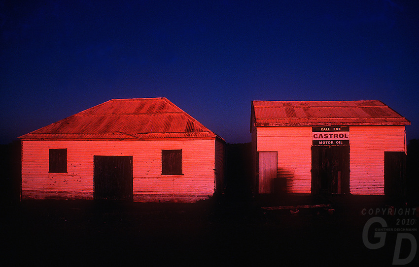 Old Pearl sorting sheds in twilight, Broome, Western Australia