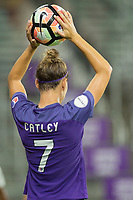 Orlando, FL - Saturday August 12, 2017: Steph Catley during a regular season National Women's Soccer League (NWSL) match between the Orlando Pride and Sky Blue FC at Orlando City Stadium.