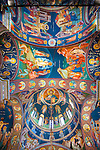 Byzantine-style frescos created by iconographer Miloje Milinkovic within the chapel of Assumption of the Virgin Mary Serbian Orthodox Church, Kragujevac, Serbia