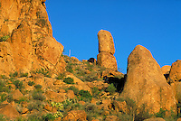 Grapevine Hills, an eroded laccolith, igneous boulders. Texas, Big Bend National Park.