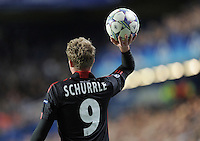 FUSSBALL   CHAMPIONS LEAGUE   SAISON 2011/2012     13.08.2011 FC Chelsea London - Bayer 04 Leverkusen Andre Schuerrle (Bayer 04 Leverkusen) mit Ball