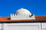 Moorish style roof dome against blue sky, Tarifa, Cadiz province, Spain