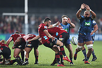 11th July 2020; Christchurch, New Zealand;  Bryn Hall attempts the kick. Crusaders versus Blues in the Super Rugby Aotearoa. Orangetheory Stadium, Christchurch,