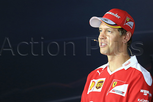01.09.2016. Monza, Italy. Formula 1 Grand prix of Italy, driver arrival and press conference day.  Scuderia Ferrari – Sebastian Vettel.