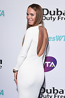 LONDON, UK. June 28, 2019: Caroline Wozniacki arriving for the WTA Summer Party 2019 at the Jumeirah Carlton Tower Hotel, London.<br /> Picture: Steve Vas/Featureflash