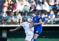 Seattle, WA - Saturday July 16, 2016: Alanna Kennedy, Lauren Barnes during a regular season National Women's Soccer League (NWSL) match between the Seattle Reign FC and the Western New York Flash at Memorial Stadium.