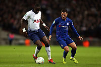 Eden Hazard of Chelsea and Moussa Sissoko of Tottenham Hotspur during Tottenham Hotspur vs Chelsea, Caraboa Cup Football at Wembley Stadium on 8th January 2019