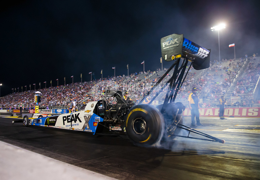 Aug 31, 2018; Clermont, IN, USA; NHRA top fuel driver Brittany Force during qualifying for the US Nationals at Lucas Oil Raceway. Mandatory Credit: Mark J. Rebilas-USA TODAY Sports
