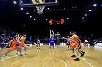 Saints&rsquo; Shea Ili in action during the NBL - Cigna Saints v Southland Sharks at TSB Bank Arena, Wellington, New Zealand on Thursday 25 April 2019. <br /> Photo by Masanori Udagawa. <br /> www.photowellington.photoshelter.com