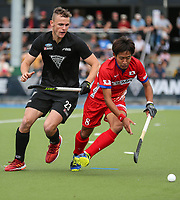 Dylan Thomas. International Hockey, Blacksticks Men v Japan, TET Multisport Centre, Stratford, New Zealand. Saturday 12 October 2019. Photo: Simon Watts/www.bwmedia.co.nz/HockeyNZ