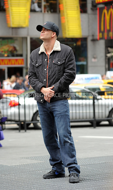 WWW.ACEPIXS.COM . . . . . ....April 25 2011, New York City....Actor Mark Salling filming an episode of the hit series 'Glee' in Times Square on April 25 2011 in New York City....Please byline: KRISTIN CALLAHAN - ACEPIXS.COM.. . . . . . ..Ace Pictures, Inc:  ..(212) 243-8787 or (646) 679 0430..e-mail: picturedesk@acepixs.com..web: http://www.acepixs.com