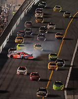 Jul. 5, 2008; Daytona Beach, FL, USA; NASCAR Sprint Cup Series driver Jeff Burton (31) spins during the Coke Zero 400 at Daytona International Speedway. Mandatory Credit: Mark J. Rebilas-