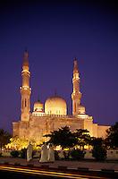 Dubai. Jumeira Mosque. United Arab Emirates. Evening