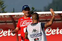 Maurizio Sarri    Lorenzo Insigne <br /> ritiro precampionato Napoli Calcio a  Dimaro 11 Luglio 2015<br /> <br /> Preseason summer training of Italy soccer team  SSC Napoli  in Dimaro Italy July 11, 2015