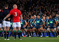 The Blues perform a haka before the 2017 DHL Lions Series rugby union match between the Blues and British & Irish Lions at Eden Park in Auckland, New Zealand on Wednesday, 7 June 2017. Photo: Dave Lintott / lintottphoto.co.nz
