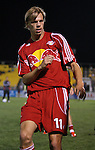 31 March 2007: New York's Dave van den Bergh (NED) Major League Soccer's Houston Dynamo defeated the New York Red Bulls 2-1 in a preseason game at Blackbaud Stadium on Daniel Island in Charleston, SC, as part of the Carolina Challenge Cup.