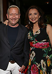 Michael John LaChiusa and Donna Murphy during the Urban Stages' 35th Anniversary celebrating Women in the Arts at the Central Park Boat House on May 15, 2019 in New York City.