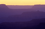 South Rim Grand Canyon sunset light on rock formations Arizona State