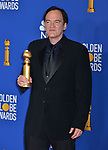 Quentin Tarantino 116 poses in the press room with awards at the 77th Annual Golden Globe Awards at The Beverly Hilton Hotel on January 05, 2020 in Beverly Hills, California.