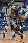 January 24, 2015 - Colorado Springs, Colorado, U.S. -   Boise State guard, Derrick Marks #2, drives the lane during a Mountain West Conference match-up between the Boise State Broncos and the Air Force Academy Falcons at Clune Arena, U.S. Air Force Academy, Colorado Springs, Colorado.  Boise State defeats Air Force 77-68.