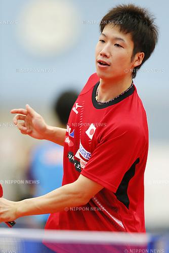 Jun Mizutani (JPN), APRIL 22, 2015 - Table Tennis : Japan national team training session for 2015 World Table Tennis Championships in Tokyo at Ajinomoto National Training Center, Tokyo, Japan. (Photo by Yusuke NakanishiAFLO SPORT)