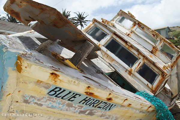 Barbados - Old fishing boats beached - East Coast