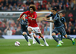 Marouane Fellaini of Manchester United in action with Daniel Wass of Celta Vigo during the Europa League Semi Final 2nd Leg match at Old Trafford Stadium, Manchester. Picture date: May 11th 2017. Pic credit should read: Simon Bellis/Sportimage