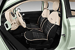 Front seat view of 2016 Fiat 500 Lounge 3 Door Hatchback Front Seat  car photos