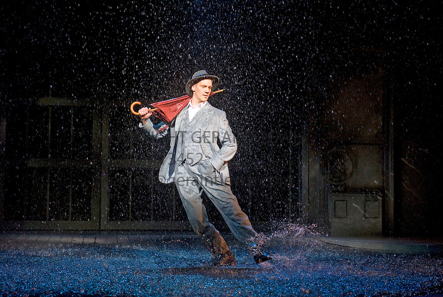 Singin' In The Rain.Directed by Jonathan Church based on the MGM Film. With Adam Cooper as Don Lockwood. Opens at The Chichester Festival Theatre on 5/7/11 CREDIT Geraint Lewis