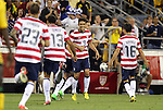 11 September 2012: Herculez Gomez (USA) (9) celebrates his goal with Geoff Cameron (USA) (behind), Fabian Johnson (USA) (23), Jermaine Jones (USA) (13), and Jose Francisco Torres (USA) (16). The United States Men's National Team played the Jamaica Men's National Team at Columbus Crew Stadium in Columbus, Ohio in a CONCACAF Third Round World Cup Qualifying match for the FIFA 2014 Brazil World Cup. The U.S. won the game 1-0.