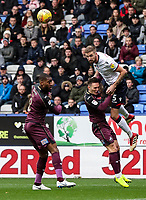 Bolton Wanderers' Mark Beevers competing with Swansea City's Connor Roberts<br /> <br /> Photographer Andrew Kearns/CameraSport<br /> <br /> The EFL Sky Bet Championship - Bolton Wanderers v Swansea City - Saturday 10th November 2018 - University of Bolton Stadium - Bolton<br /> <br /> World Copyright © 2018 CameraSport. All rights reserved. 43 Linden Ave. Countesthorpe. Leicester. England. LE8 5PG - Tel: +44 (0) 116 277 4147 - admin@camerasport.com - www.camerasport.com