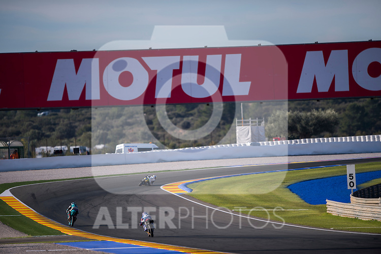 VALENCIA, SPAIN - NOVEMBER 11: Moto3 motorbikes during Valencia MotoGP 2016 at Ricardo Tormo Circuit on November 11, 2016 in Valencia, Spain
