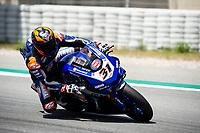 9th July 2020; Circuit de Barcelona Catalunya, Barcelona, Spain; FIM Superbike World Championship Test, Day Two; Garrett Gerloff of the GRT Yamaha WorldSBK Junior Team in action with the Yamaha YZF R1