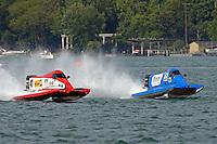 Jim Robb, Sr., (#47) and Mike Klepadlo, (#35)<br /> <br /> Trenton Roar On The River<br /> Trenton, Michigan USA<br /> 17-19 July, 2015<br /> <br /> &copy;2015, Sam Chambers
