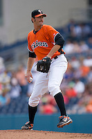 Relief pitcher Kam Mickolio #48 of the Norfolk Tides in action versus the Toledo Mudhens at Harbor Park June 7, 2009 in Norfolk, Virginia. (Photo by Brian Westerholt / Four Seam Images)