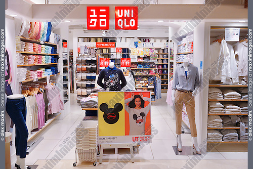 stock photo uniqlo clothing store in tokyo japan