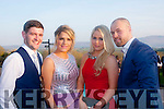 Glam<br /> -------<br /> Enjoying the Tralee IT Sports &amp; Societies annual ball in the Ballyroe Hts Hotel,Tralee last Thursday night were,L-R Paul O'callaghan,Shauna Keane,Jessica Buckley and Hubert Kloskowski