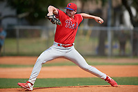 Philadelphia Phillies pitcher Spencer Van Scoyoc (44) during an exhibition game against the Canada Junior National Team on March 11, 2020 at Baseball City in St. Petersburg, Florida.  (Mike Janes/Four Seam Images)