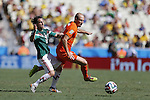 (L-R) Andres Guardado (MEX), Arjen Robben (NED), JUNE 29, 2014 - Football / Soccer : FIFA World Cup Brazil<br /> match between Netherlands and Mexico at the Castelao stadium in Fortaleza, Brazil. (Photo by AFLO)