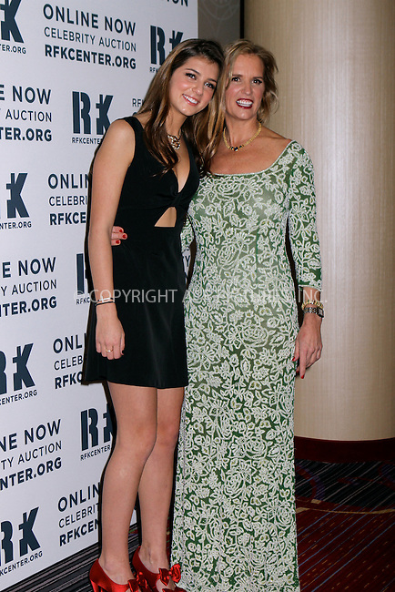 WWW.ACEPIXS.COM....December 3 2012, New York City....Michaela Kennedy and Kerry Kennedy arriving at the Robert F. Kennedy Center for Justice and Human Rights 2012 Ripple of Hope gala at The New York Marriott Marquis on December 3, 2012 in New York City....By Line: Nancy Rivera/ACE Pictures......ACE Pictures, Inc...tel: 646 769 0430..Email: info@acepixs.com..www.acepixs.com