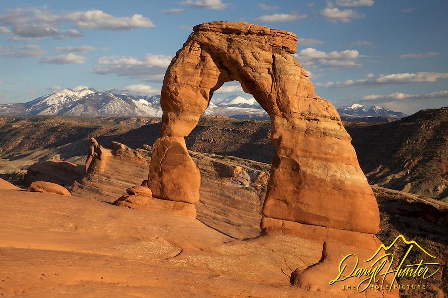 Delicate Arch, La Sal Mountains, Arches National Park, Moab, Utah