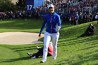 Georgia Hall (EUR) on the 17th during Day 3 Singles at the Solheim Cup 2019, Gleneagles Golf CLub, Auchterarder, Perthshire, Scotland. 15/09/2019.<br /> Picture Thos Caffrey / Golffile.ie<br /> <br /> All photo usage must carry mandatory copyright credit (© Golffile | Thos Caffrey)