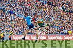 Jack McCaffrey, Dublin in action against Tommy Walsh, Kerry during the GAA Football All-Ireland Senior Championship Final match between Kerry and Dublin at Croke Park in Dublin on Sunday.