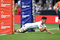 Cameron Anderson of Wasps scores a try. Premiership Rugby 7s (Day 2) on July 28, 2018 at Franklin's Gardens in Northampton, England. Photo by: Patrick Khachfe / Onside Images