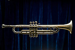 Antique or Vintage Marceau Trumpet with corrosion and finish flaking off.
