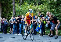 Picture by Alex Broadway/SWpix.com - 30/09/2018 - Cycling 2018 Road Cycling World Championships Innsbruck-Tirol, Austria - Men's Elite Road Race - David de la Cruz of Spain climbs up the hell.