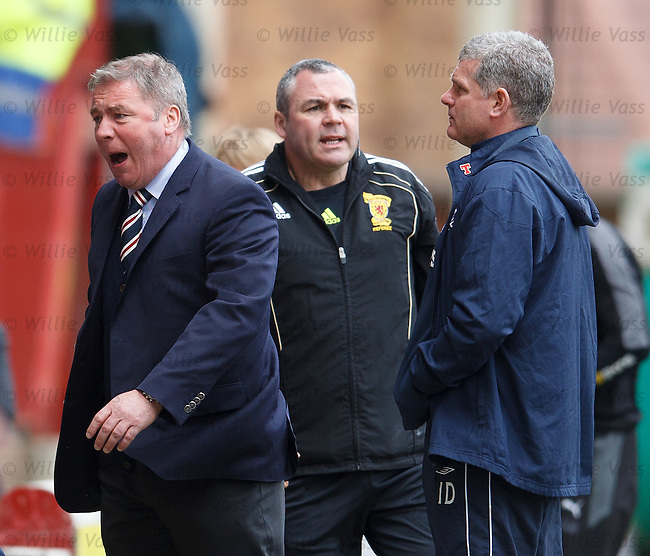 Ally McCoist reacts after being denied a penalty kick