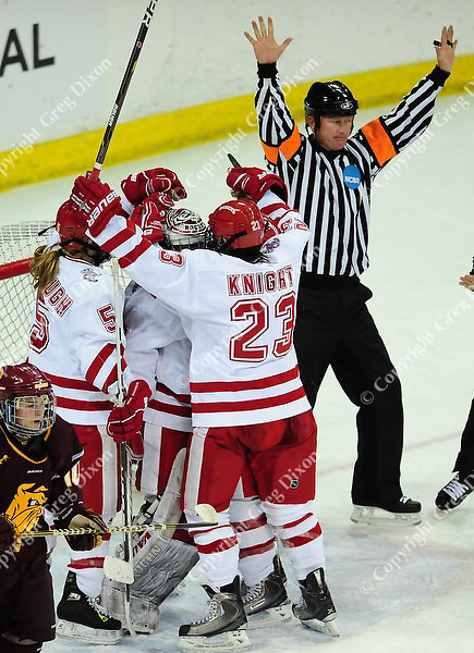Wisconsin women's hockey team tops Minnesota-Duluth 2-1 to advance to the Frozen Four on Saturday, 3/12/11, at the Kohl Center in Madison, Wisconsin